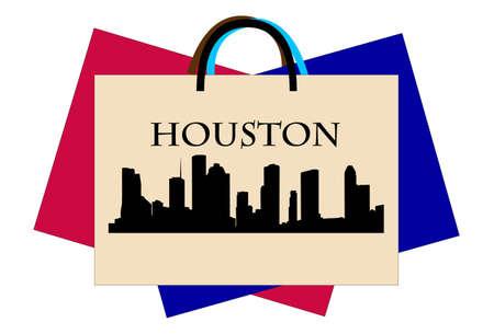 Houston shopping Illustration