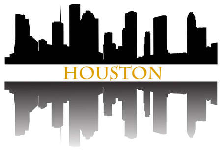 Houston skyline Stock Vector - 10349021