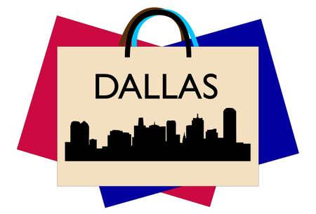 Dallas winkelen Stock Illustratie
