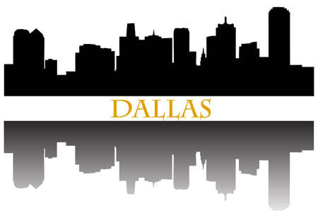Dallas skyline Stock Illustratie