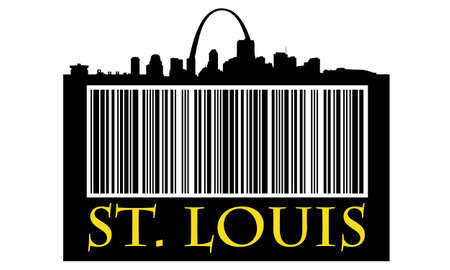 City of St. Louis shopping bag with high-rise buildings skyline