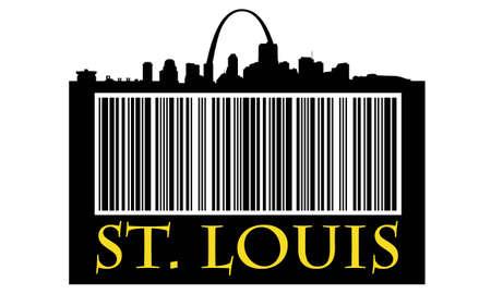 Stad van St. Louis boodschappentas met hoogbouw skyline Stockfoto - 10771506