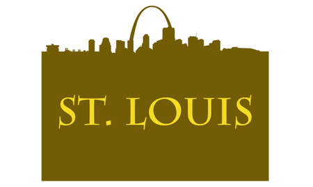City of St. Louis shopping bag with high-rise buildings skyline Vector