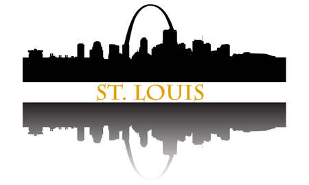 聖 Louis 都市高層ビルのスカイライン  イラスト・ベクター素材