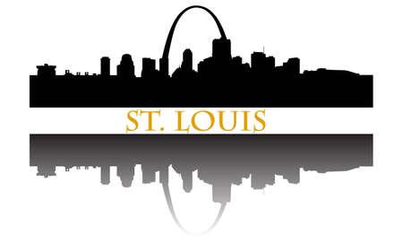 Stad van St. Louis hoogbouw skyline Stock Illustratie