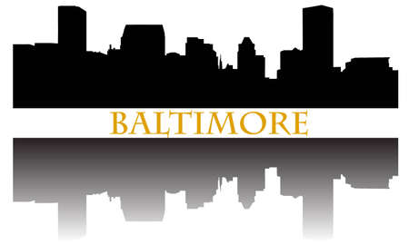 City of Baltimore high-rise buildings skyline Stock Vector - 10771509