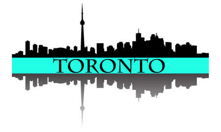 City of Toronto high rise buildings skyline Stock Vector - 10799784