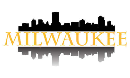 wisconsin: City of Milwaukee high rise buildings skyline