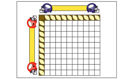 scores: Sheet for playing footbal squares