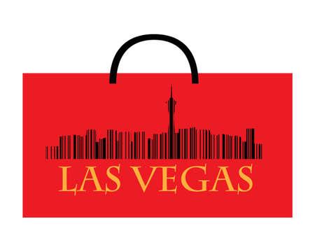 las vegas city: City of Las Vegas high-rise buildings skyline with shoppin bag