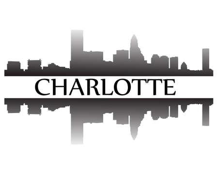 Stad van Charlotte hoogbouw skyline