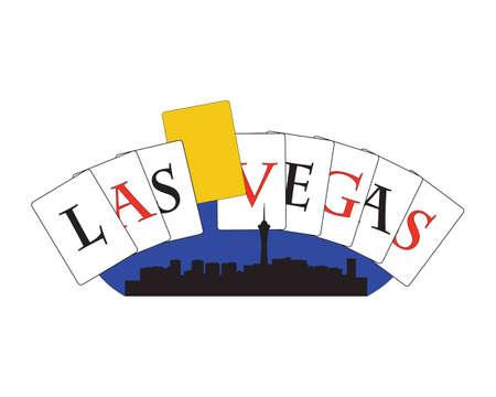 City of Las Vegas hoogbouw skyline Stock Illustratie