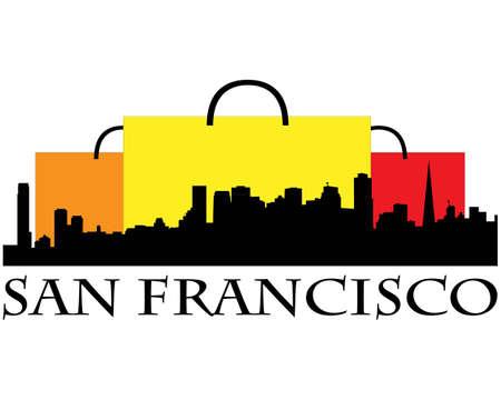 Ville de San Francisco immeubles de grande hauteur horizon Banque d'images - 11885295