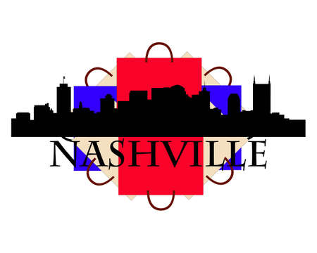 City of Nashville high rise buildings skyline