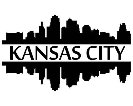 City of Kansas City high rise building  skyline Vector