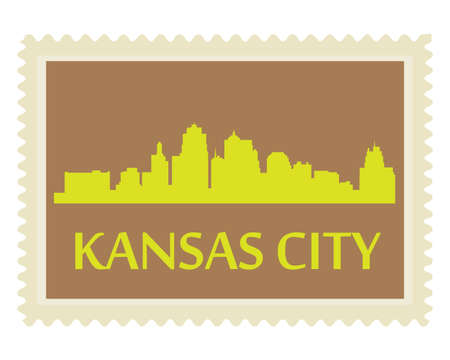 Stad van Kansas City hoogbouw skyline
