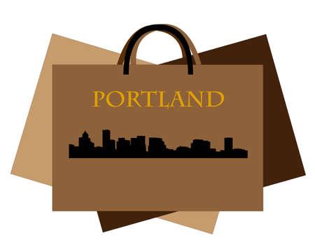 Città di Portland grattacieli orizzonte Archivio Fotografico - 11885304