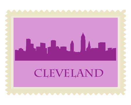 Stad van Cleveland hoogbouw skyline