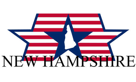 New Hampshire state map, flag, and name. Stock Vector - 12288294
