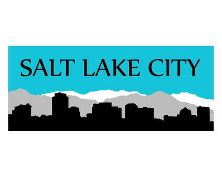 salt lake city: Salt Lake City high-rise buildings skyline
