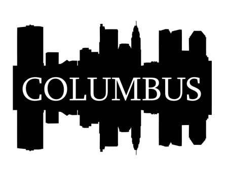Columbus hoogbouw skyline Stock Illustratie