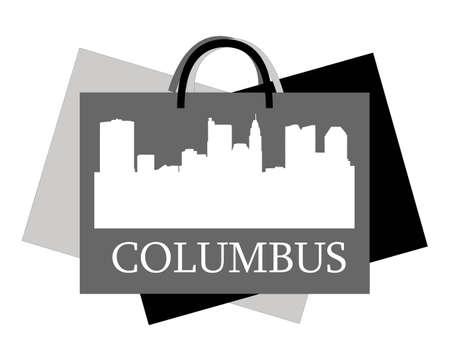 Columbus high-rise buildings skyline Stock Vector - 13233853