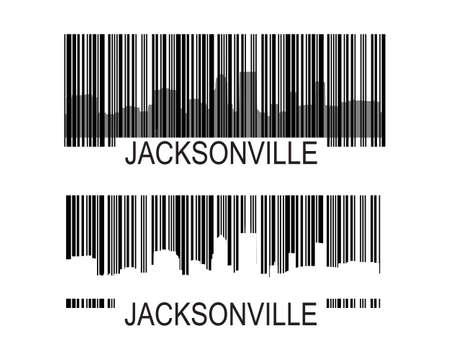 Jacksonville grattacieli orizzonte Archivio Fotografico - 13233852