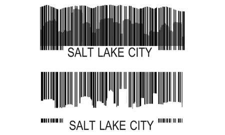 Stad van Salt Lake City hoogbouw skyline