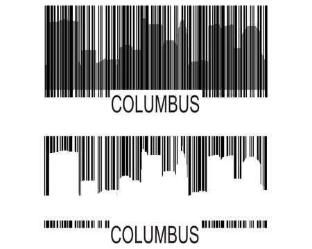 Columbus high-rise buildings skyline Vector