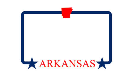 arkansas state map: Arkansas state map, frame, and name