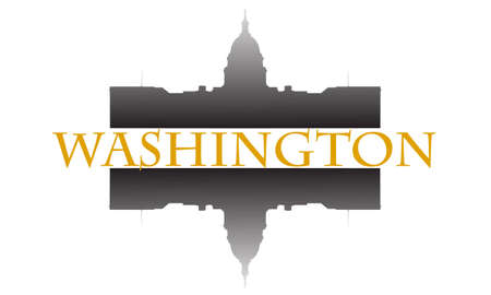 City of Washington high-rise buildings skyline Illustration