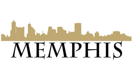 Stad van Memphis hoogbouw skyline