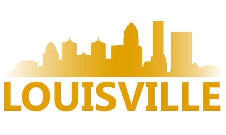 City of Louisville high-rise buildings skyline Vector