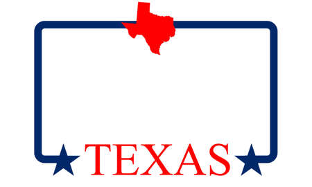 houston flag: Texas state map, frame and name