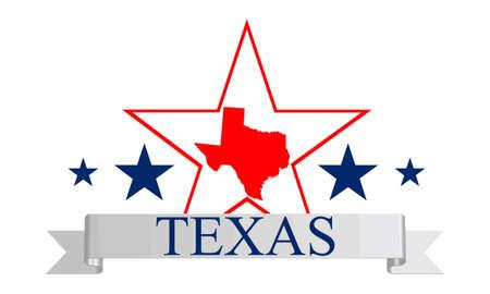 Texas state map, ster en de naam