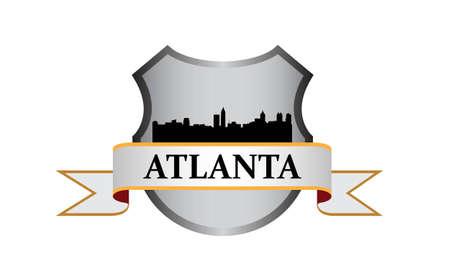 atlanta: Atlanta crest with high-rise buildings skyline