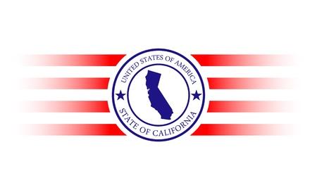 カリフォルニア州の地図、星と名前です。