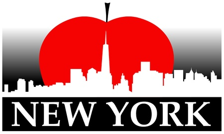 big apple: New York city high-rise buildings skyline