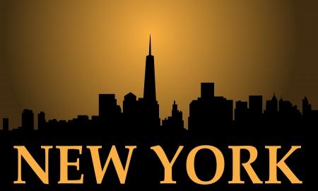 wallstreet: New York city high-rise buildings skyline