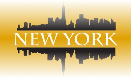 New York city high-rise buildings skyline Vector