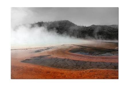 Grand Loop Yellowstone hot spring Фото со стока - 43335115