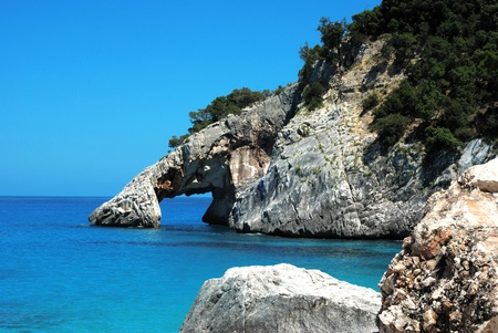 natural monument in the sardinian coast