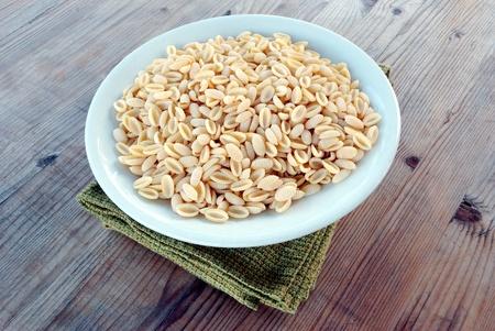 Sardinian gnocchi - italian pasta 版權商用圖片