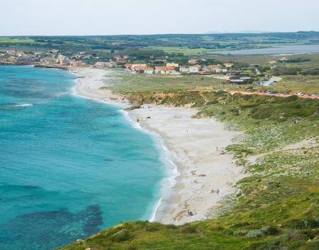 Sardaigne, San Giovanni di Sinis plage Banque d'images - 13756348