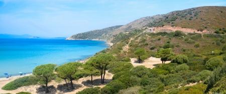 Sardinia, beach of Mari Pintau, near Cagliari