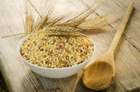 Durum wheat semolina, typical pasta from Sardinia photo