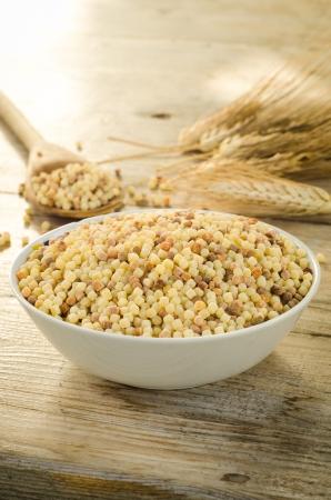 semolina pasta: Durum wheat semolina, typical pasta from Sardinia