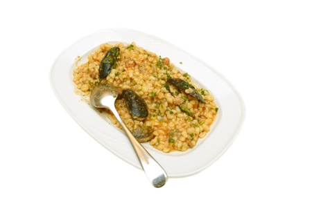 Fregola con crostacei, cooked semolina with crustacean Stock Photo - 14791506