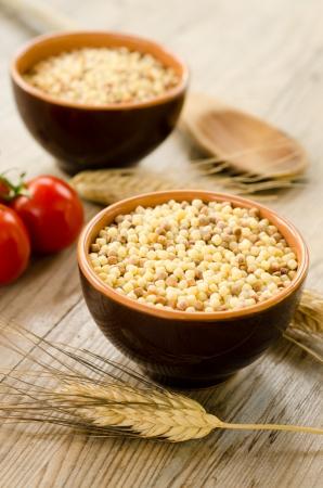 durum wheat semolina: Raw Fregola, typical sardinian pasta