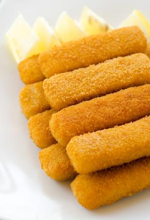 Fried cod sticks